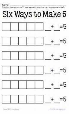 add to decompose hands on practice for numbers 2 3 5 and 6 set 1 math ideas math math