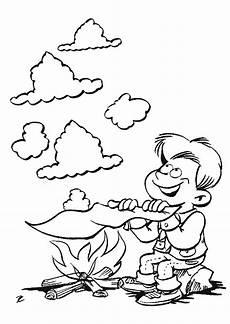 feu dessin coloriage scout feu de c sur hugolescargot hugolescargot