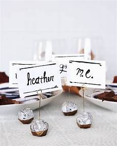 homemade place card holders for wedding