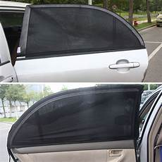 2pcs Balck Auto Sun Visor Rear Window Folding Cover