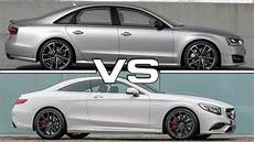 audi vs mercedes audi s8 plus vs mercedes s63 amg coupe