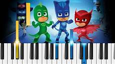 pj masks theme song piano tutorial piano cover chords