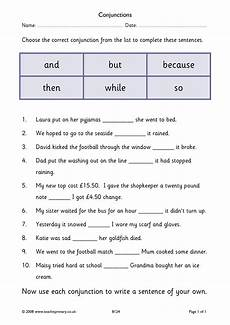 punctuation worksheets y3 20942 ks2 conjunctions and connectives teachit primary