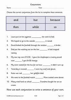 worksheets for ks2 18570 eyfs ks1 ks2 conjunctions and connectives teachit primary