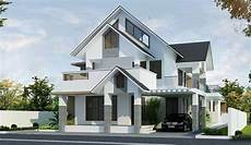4 stylish homes with slanted amazing 2100 sqft 4 bedroom sloped roof cochin style villa