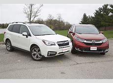 2017 Honda CR V vs 2017 Subaru Forester   AutoGuide.com