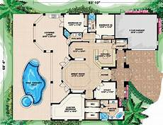 mediterranean house plans with pool mediterranean style house plan 3 beds 3 baths 2536 sq ft