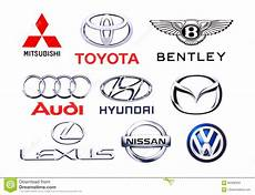 Signe De Voiture Logos Collection Of Different Brands Of Cars Editorial