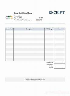 fill in receipt template receipt template for gold shop 1