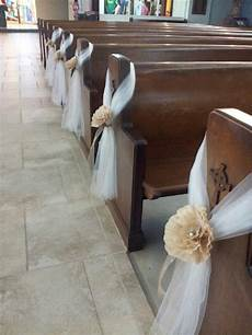 tulle church pew decoration search idee per