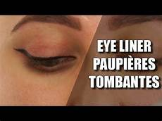 comment faire un trait d eyeliner sur paupi 232 re tombante