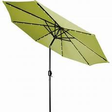 trademark innovations 9 ft deluxe solar powered led trademark innovations 9 ft deluxe solar powered led lighted patio umbrella in light green