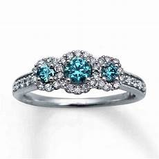 blue diamond engagement ring wedding and bridal inspiration