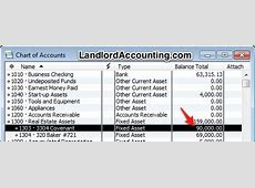 rental company chart of accounts