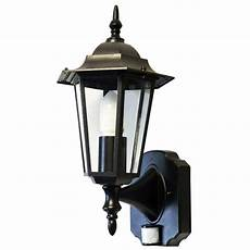 regent black aluminium pir motion sensor outdoor traditional wall light llrgbs ebay
