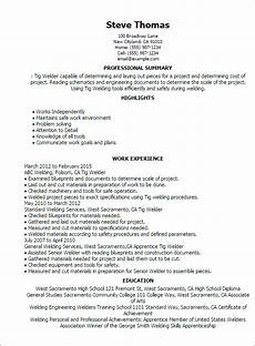 1 tig welder resume templates try them now myperfectresume