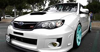 White With Neon Light Blue Rims  Type Of Cars I Like
