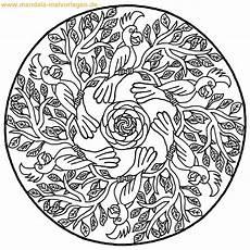 Mandala Malvorlagen Tiere Papagei Malvorlage Mandala Fuer Kinder Jpg 1200