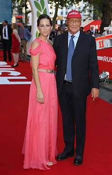 Formula 1 World Chion Niki Lauda And His Birgit