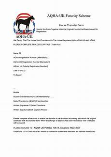 aqha transfer form templates free to download in pdf format
