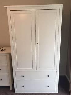 Ikea Hemnes White Wardrobe With 2 Drawers In Sevenoaks