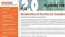 chicago housing authority plan for transformation chicago housing authority launches website to collect