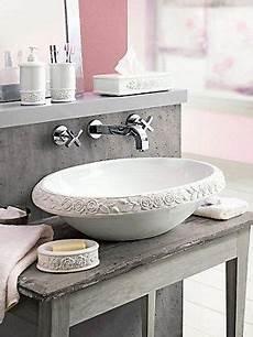 Waschbecken Mit Dekor Shabby Chic Badezimmer