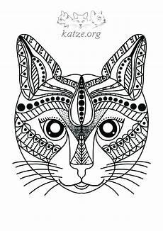 ausmalbilder tiere katzen mandala kinder ausmalbilder