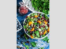 spring salad with a really cool dressing_image