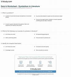 teaching symbolism in literature worksheets high school health school health health class