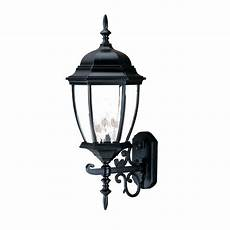 acclaim lighting wexford collection 3 light matte black outdoor wall light fixture 5013bk