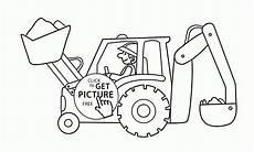 Ausmalbilder Kinder Bagger Excavator Clipart Colouring Page Excavator Colouring Page