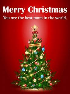to the best mom merry christmas card birthday greeting cards by davia