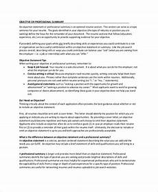 free 9 resume objective sles in pdf ms word