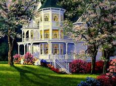 flower wallpaper house house in springtime wallpaper and background