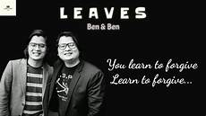 leaves ben ben clumsy lyrics