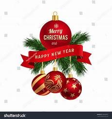 merry christmas happy new year logo stock vector 508968667