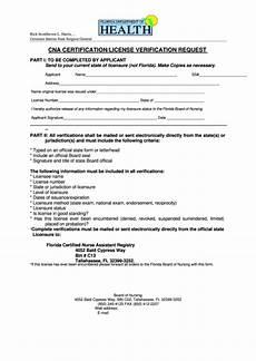 cna certification license verification request florida