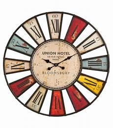horloge murale originale horloge murale bois et fer originale multicolore