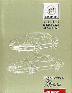 online car repair manuals free 1990 buick riviera engine control 1989 buick riviera and reatta factory service manual 1988 buick riviera reatta repair shop