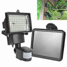 sale solar panel led flood security solar garden light pir motion sensor 60 leds path wall