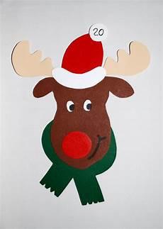 rentier basteln weihnachten kindergarten fensterbilder