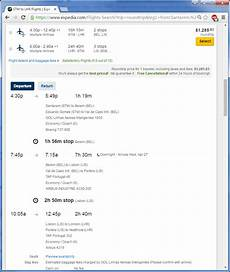 on expedia how can i tell if a flight on multiple