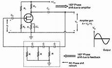circuit diagram for rc phase shift oscillator using jfet
