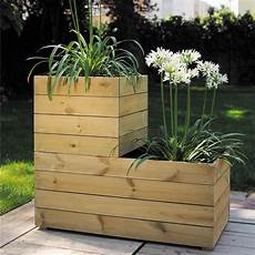 bac à bois bac 224 fleurs bois trait 233 l80 h39 5 cm essencia plantes