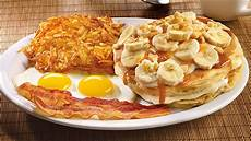 denny s salted caramel banana cream pancake breakfast review we shorts youtube