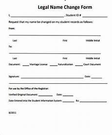 sle name change form 10 exles in word pdf