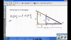 using similar triangles to calculate sides