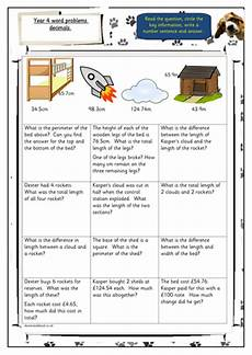 year 4 decimal word problems differentiated teaching resources