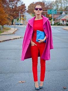 Rot Und Pink Kombinieren Streetstyle In 2019 Kleidung